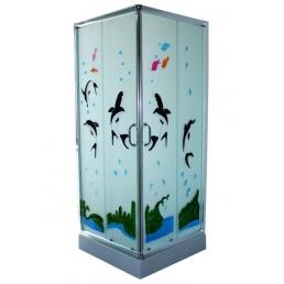 Cabina de dus patrata, model delfin