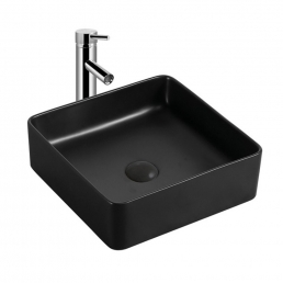 Lavoar ceramic W1418 negru mat
