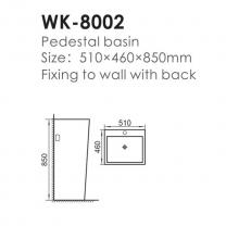 Lavoar cu picior WK-8002